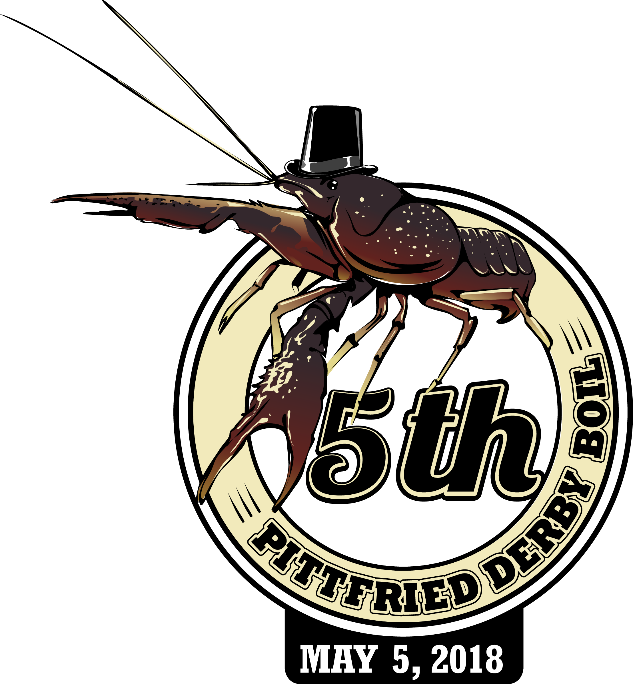 Pittfried derbyboil fifth annual. Crawfish clipart beer
