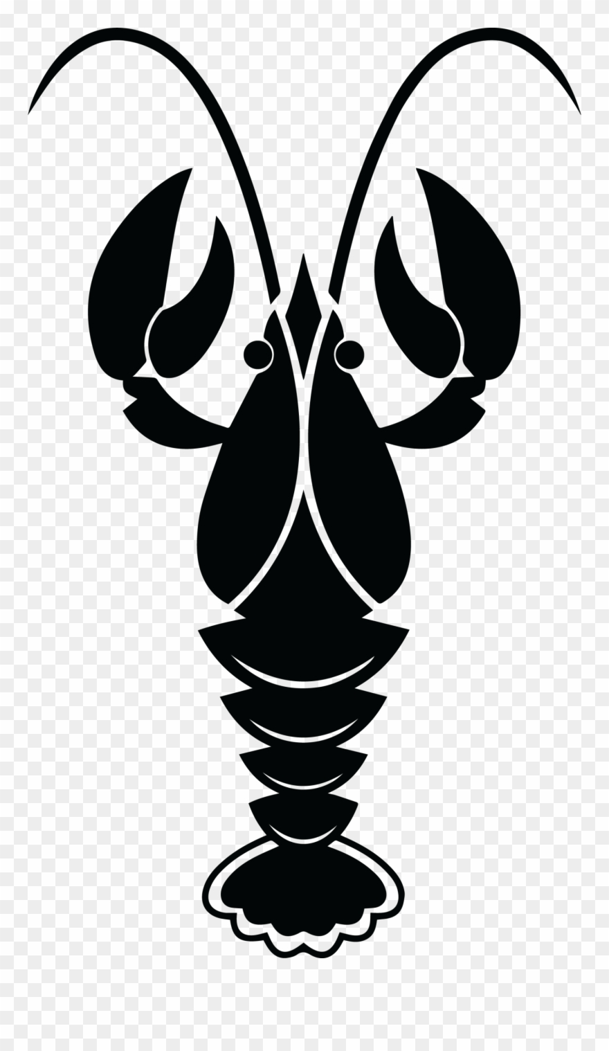 Crawfish clipart black and white. Clip art transparent png