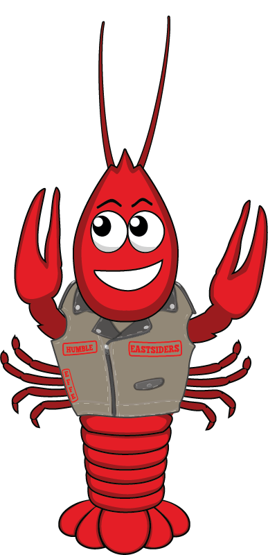 Eastsiders mc st annual. Crawfish clipart cajun music