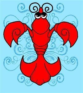 Art louisiana . Crawfish clipart fleur de lis