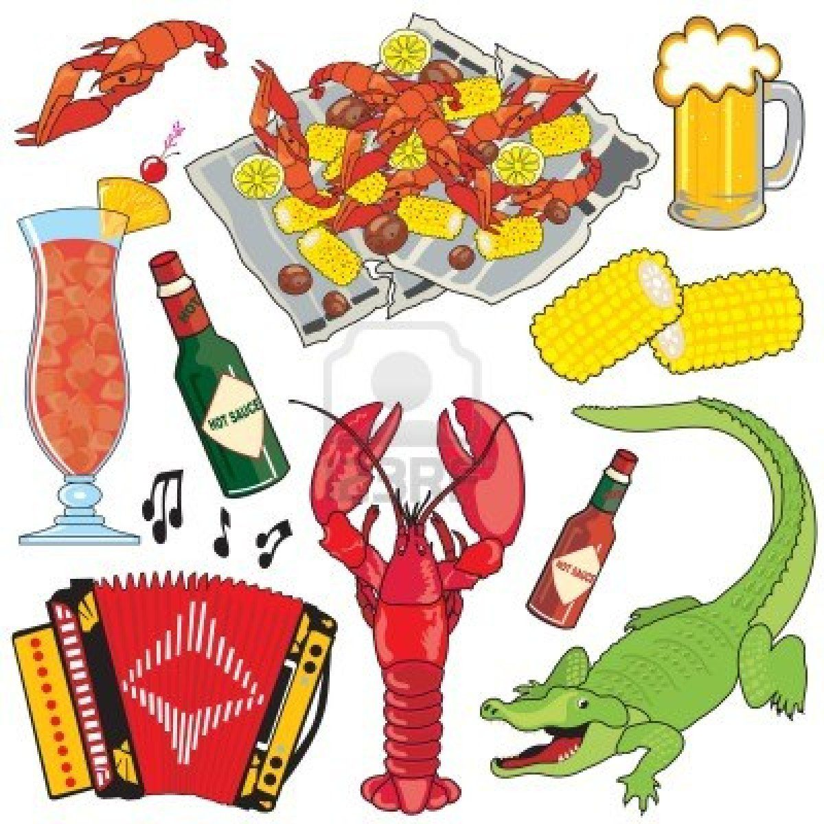 Stock vector city images. Crawfish clipart gumbo