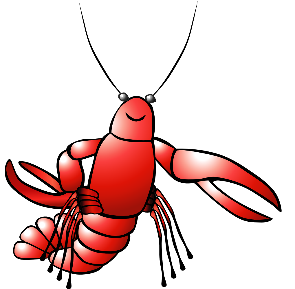 Lobster clipart lobster roll. Onlinelabels clip art crawfish