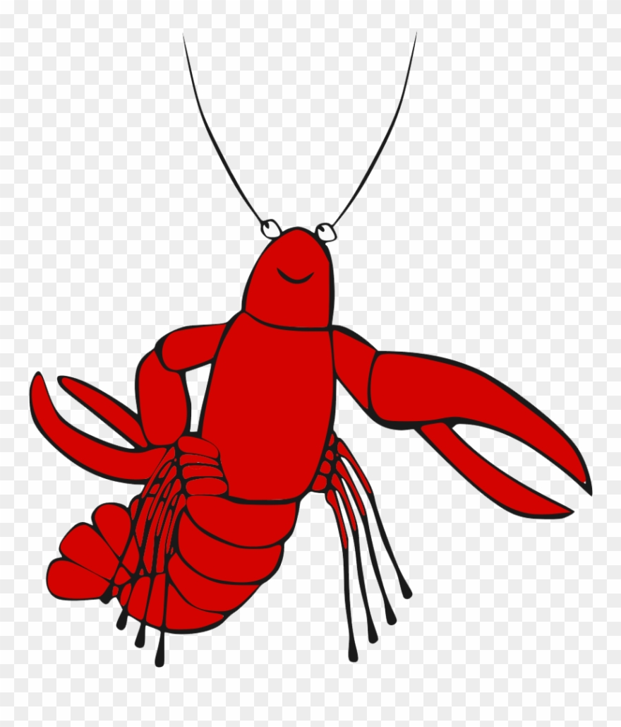 Crawfish clipart happy. Crayfish transparent clip art