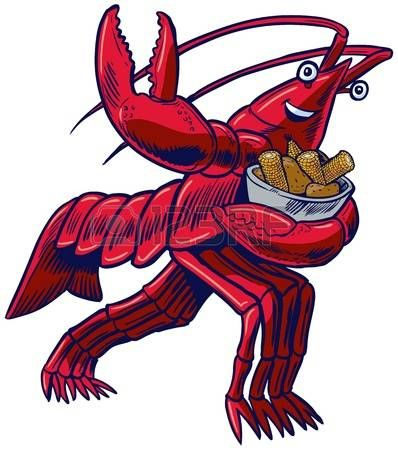 Stock vector chris doehling. Crawfish clipart happy