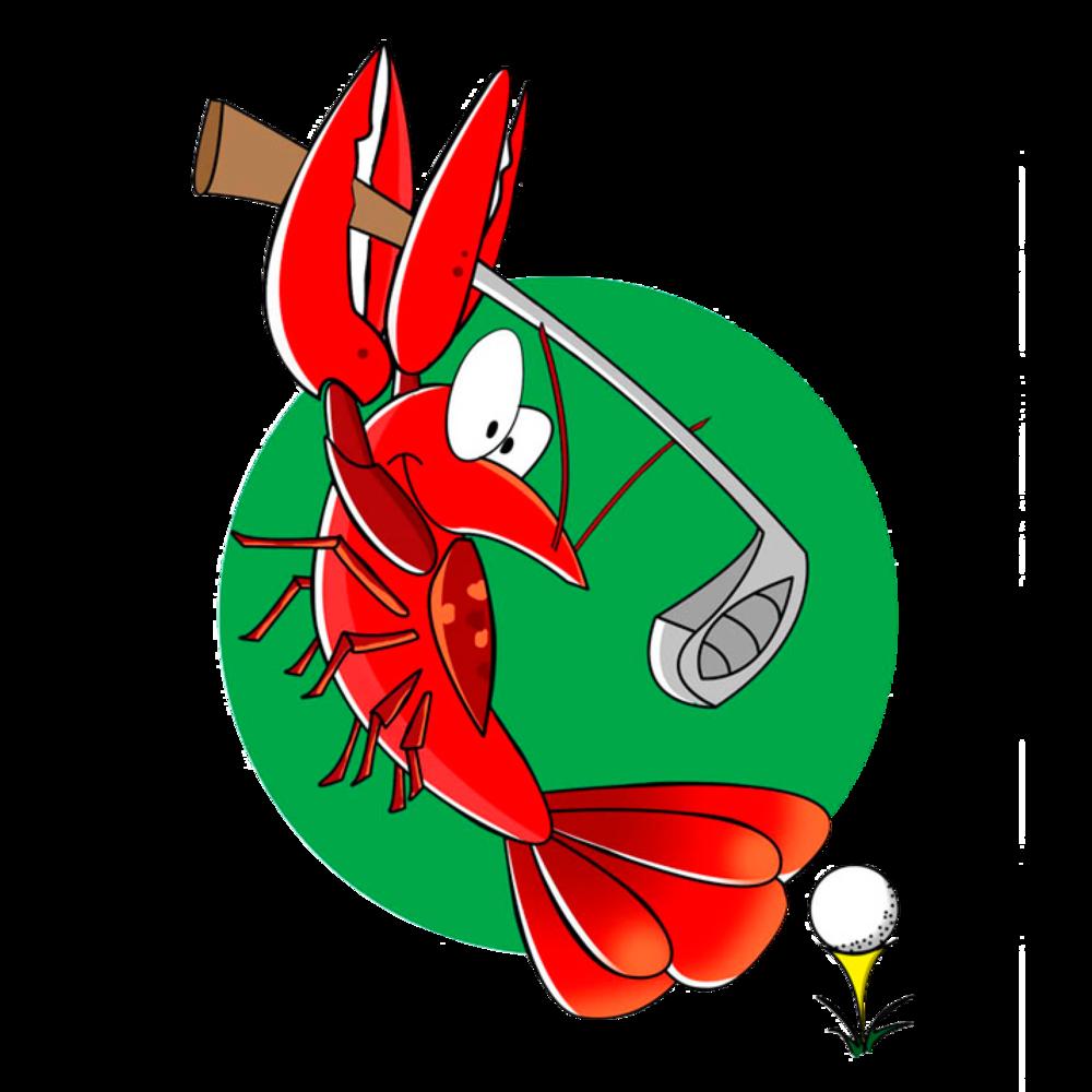 Golfing clipart golf scramble. Women of the crawfish