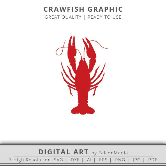 Crawfish clipart pdf. Red svg dxf boiled