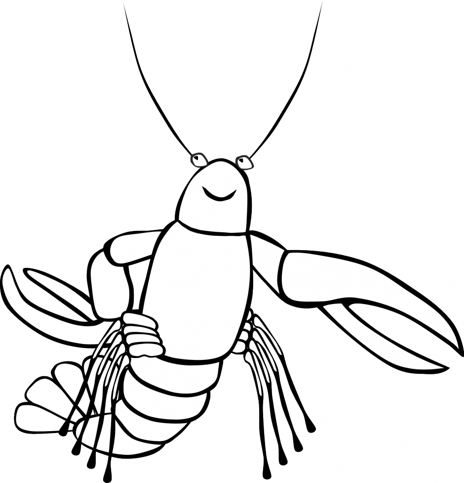 Lobster clipart clip art. Black and white panda