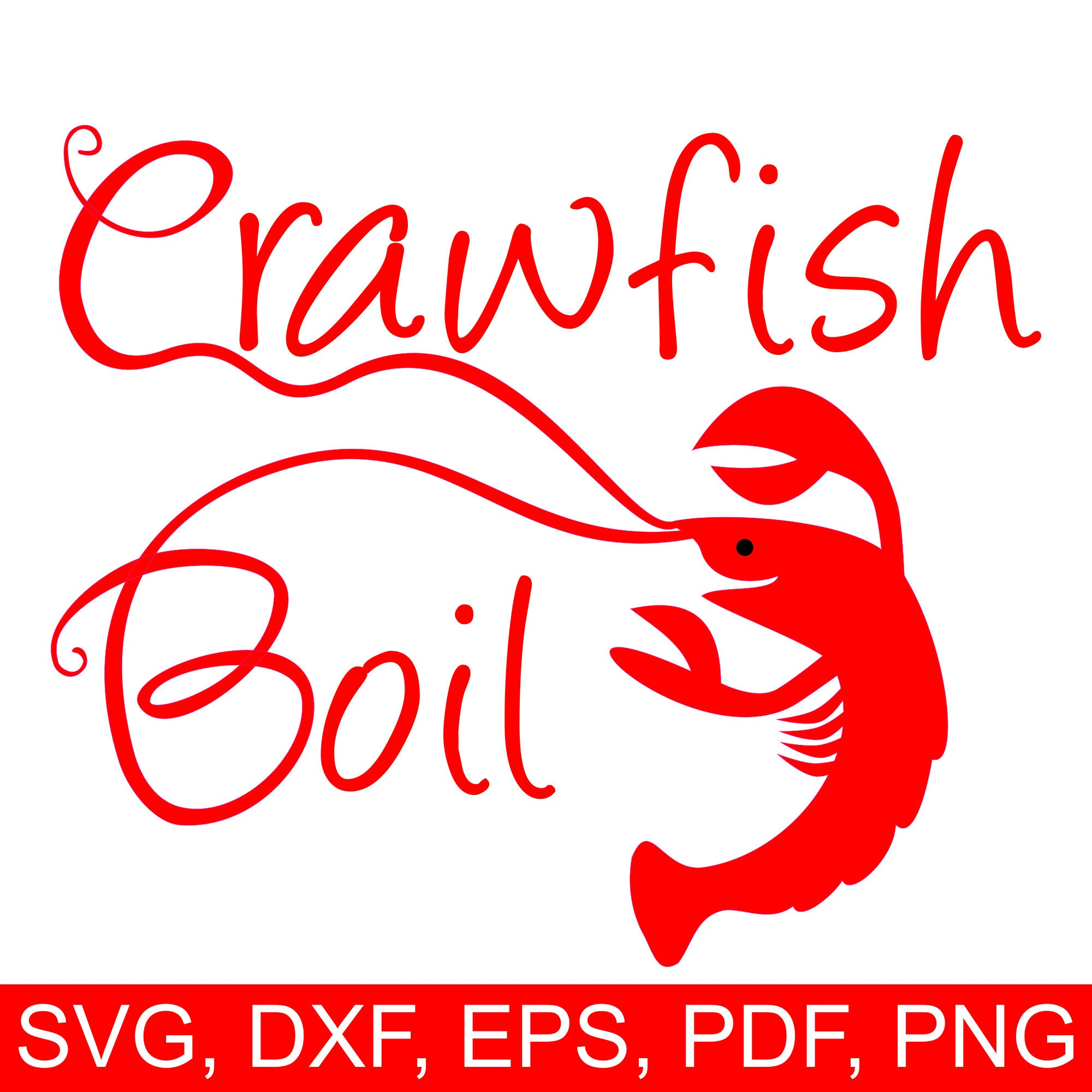 Boil svg file and. Crawfish clipart printable