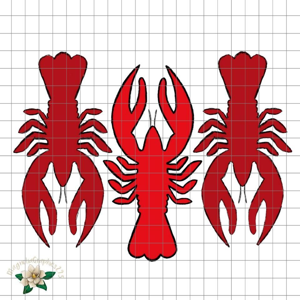 Crawfish clipart printable. Trio png design