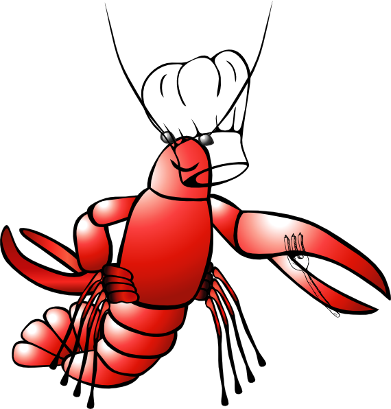 Crawfish clipart seafood. Chef clip art at