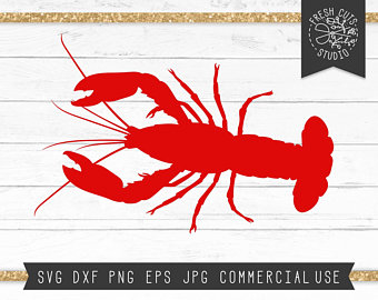 Etsy . Crawfish clipart svg