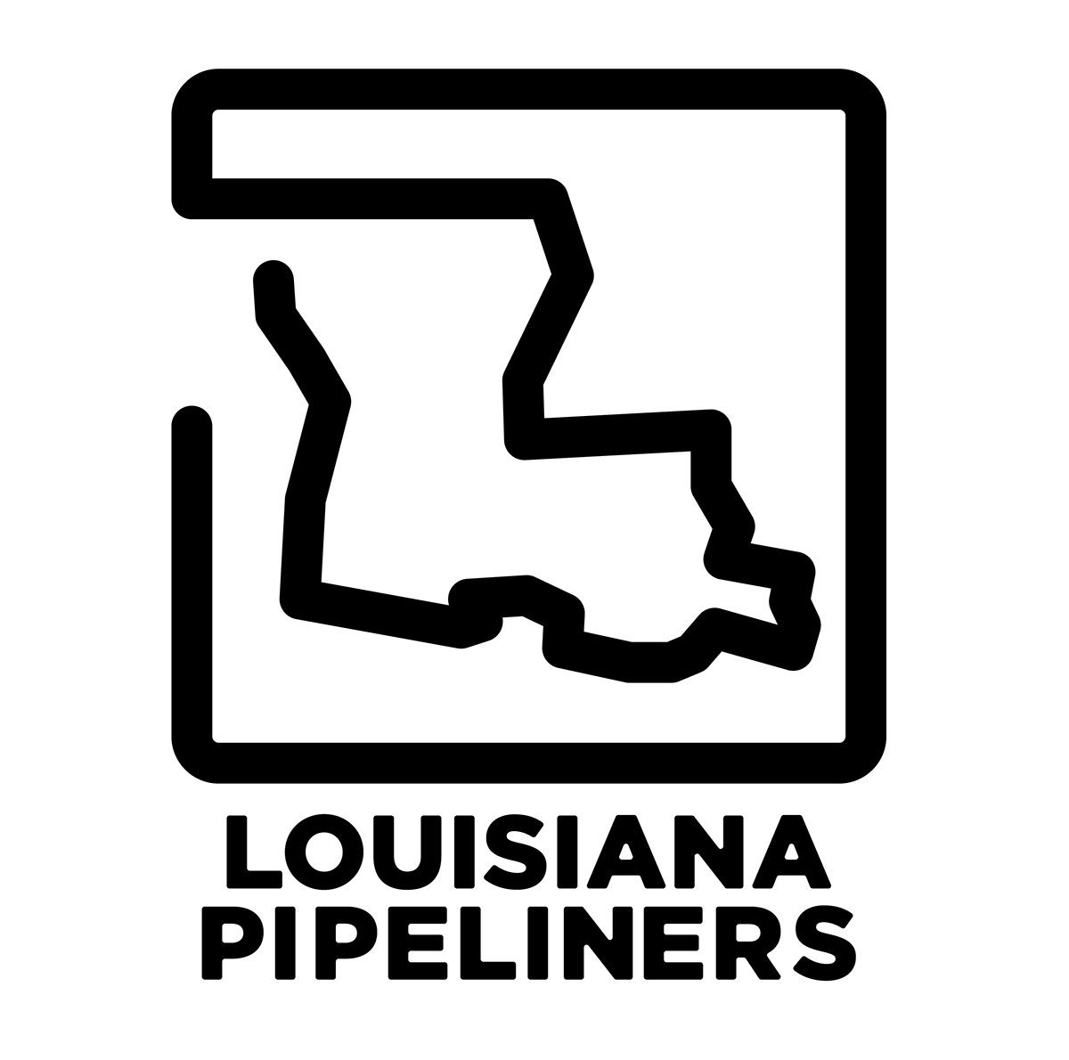 Crawfish clipart symbol louisiana. Pipeliners on behance logo