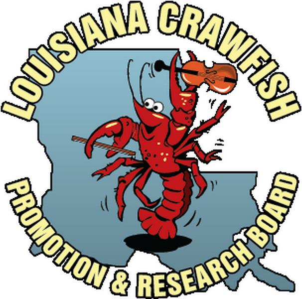 La crawfish board logo. Lobster clipart symbol louisiana