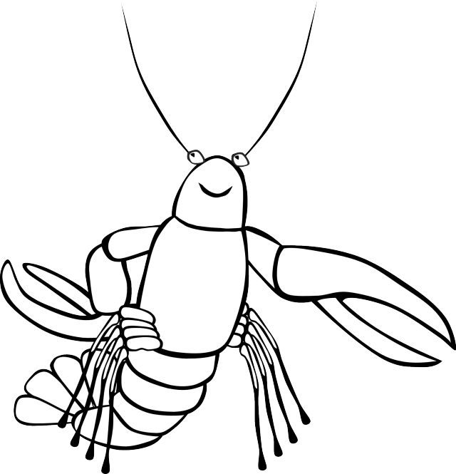 Lobster clipart life. Black and white panda