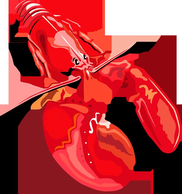American homarus americanus homard. Lobster clipart mud crab
