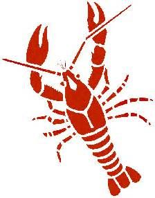 Free download silhouette for. Crawfish clipart