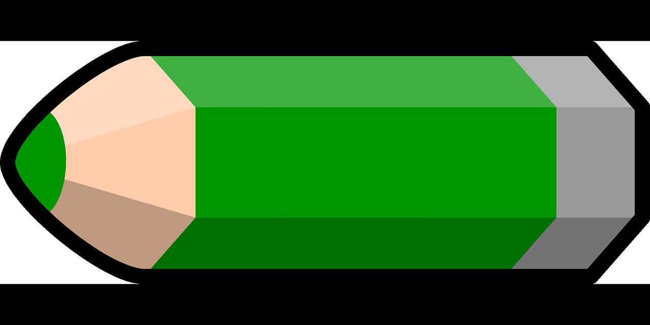 Pencil green colored png. Crayon clipart 2 crayon