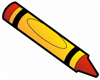 Crayon clipart. Clip art black and