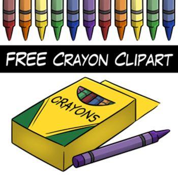 Free clip art digital. Crayon clipart 8 primary color