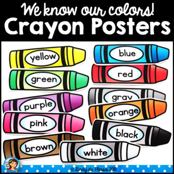 Crayon clipart 8 primary color. Posters happy and bright