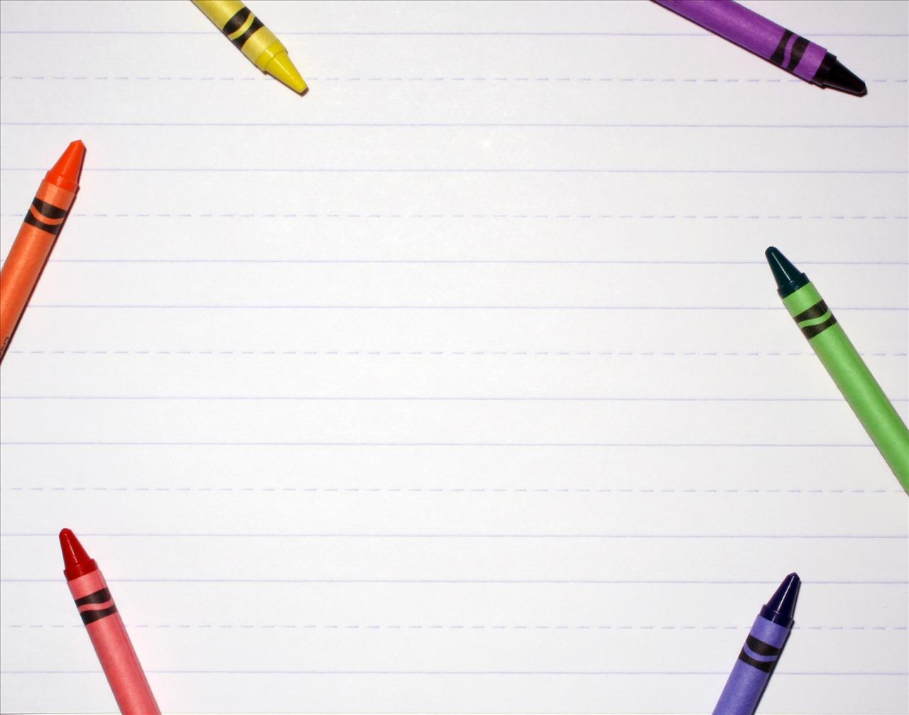 Frame backgrounds for border. Crayon clipart background powerpoint