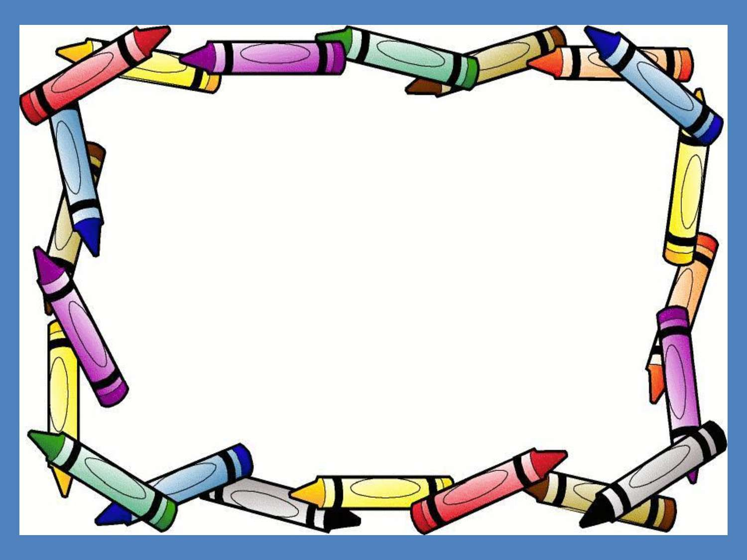 Crayon clipart background powerpoint. Border frame free ppt
