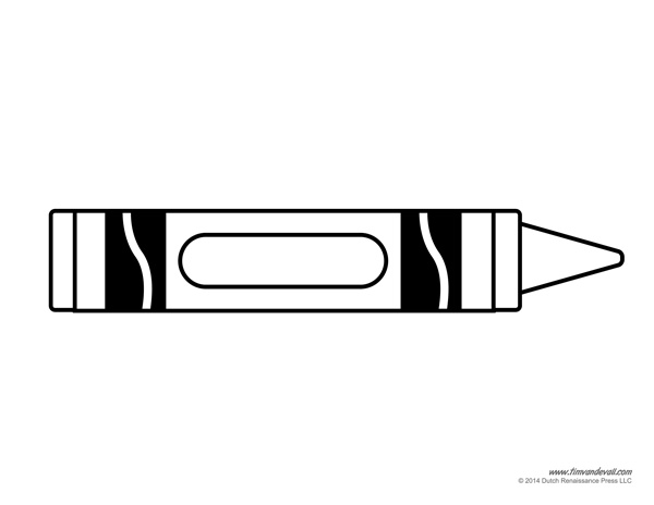Free blank crayon cliparts. Crayons clipart template