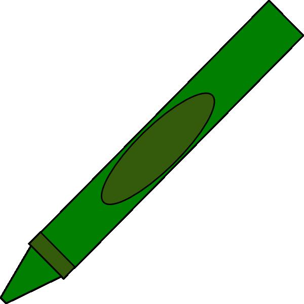 Totetude clip art at. Green clipart crayon