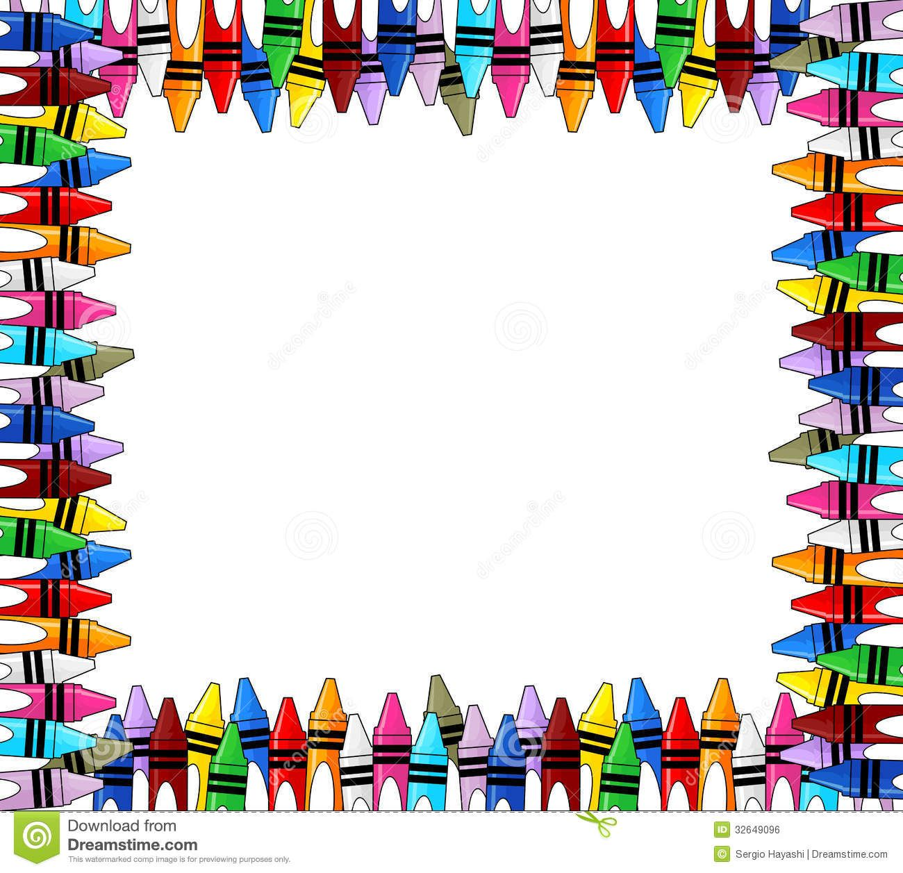 Crayon clipart boarder. Crayons google search kylie