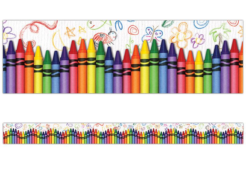 Crayon clipart borders. Border