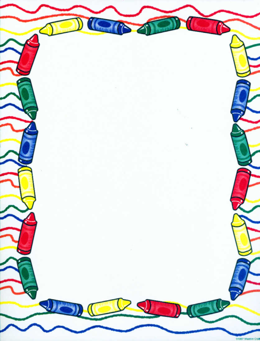Crayon clipart borders. Border free download best