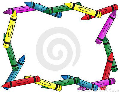 Border panda free images. Crayon clipart borders