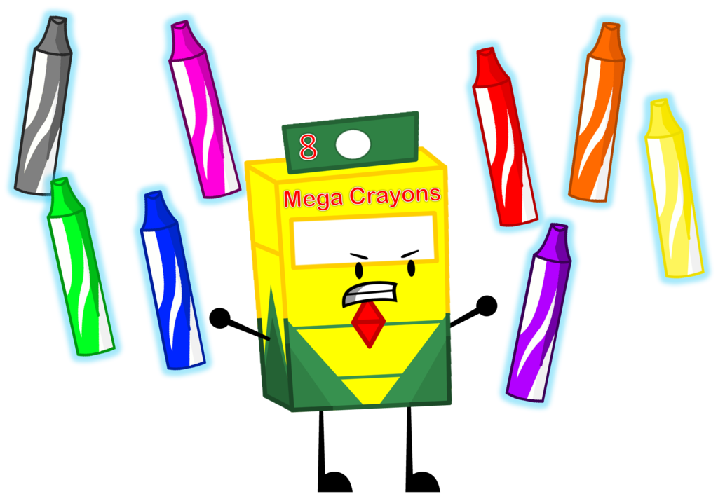 Object mega evolution of. Crayons clipart box 10