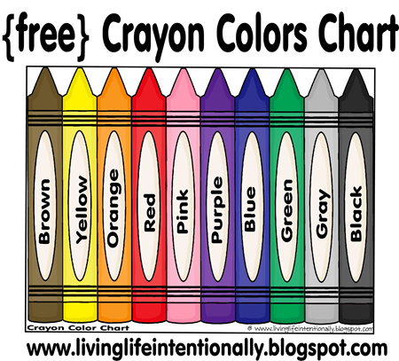 Free hundreds pre school. Crayons clipart color chart