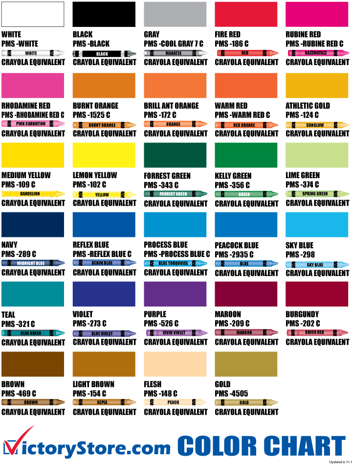 crayons clipart color chart
