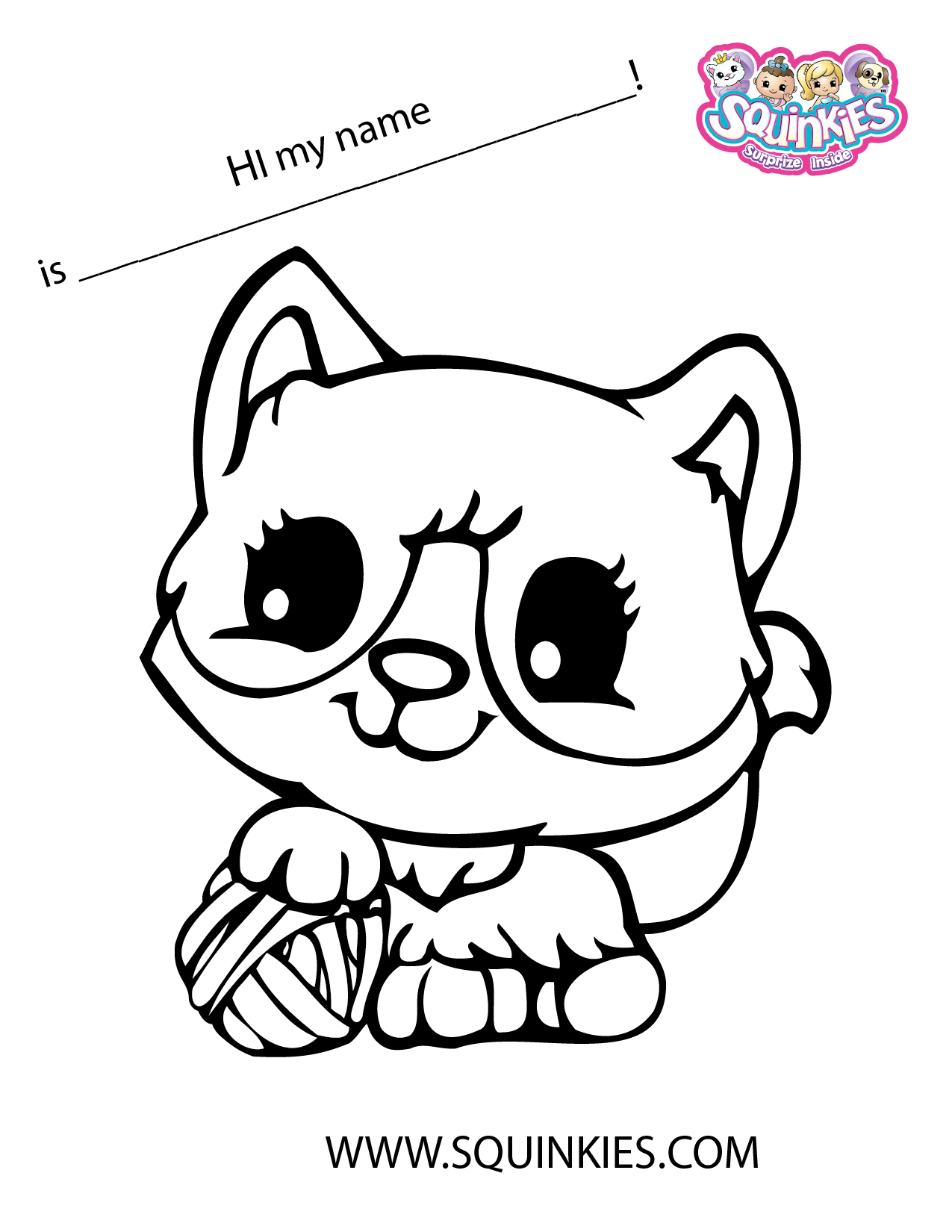 Heaven clipart colouring page. Squinkies coloring megs own