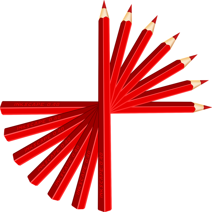 Writer clipart editor. Pencil red color free