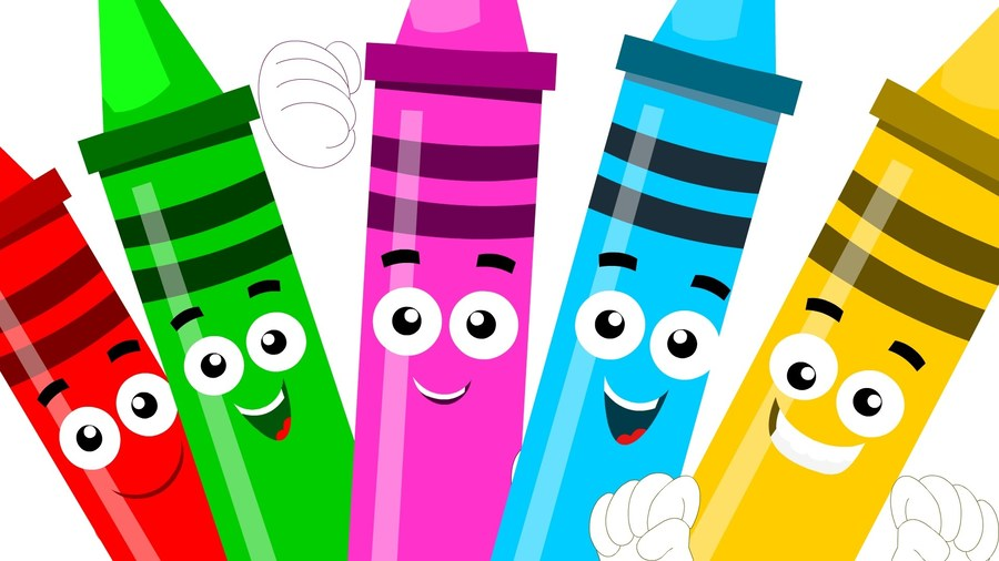 Download cartoon . Crayon clipart five