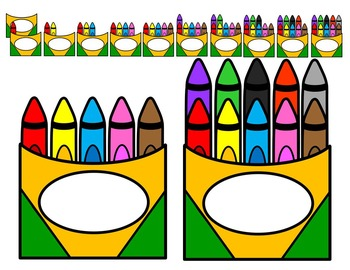 Crayon clipart five. Place value ten frames