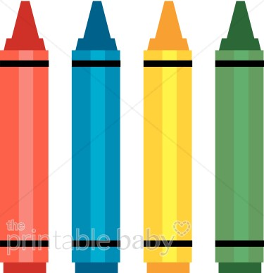 Crayons baby toy supplies. Crayon clipart four