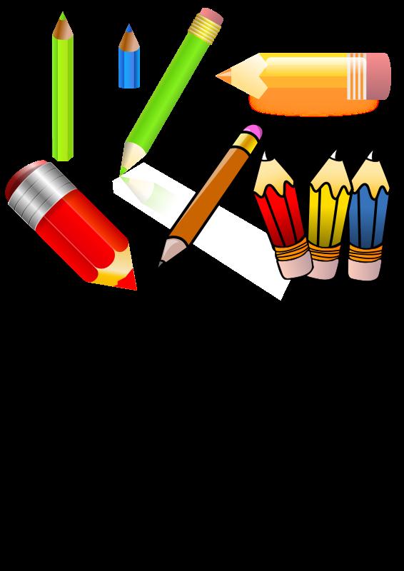 Pencils clip art download. Crayon clipart horizontal