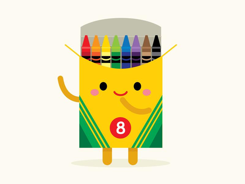 Crayons clipart kawaii. By jerrod maruyama on