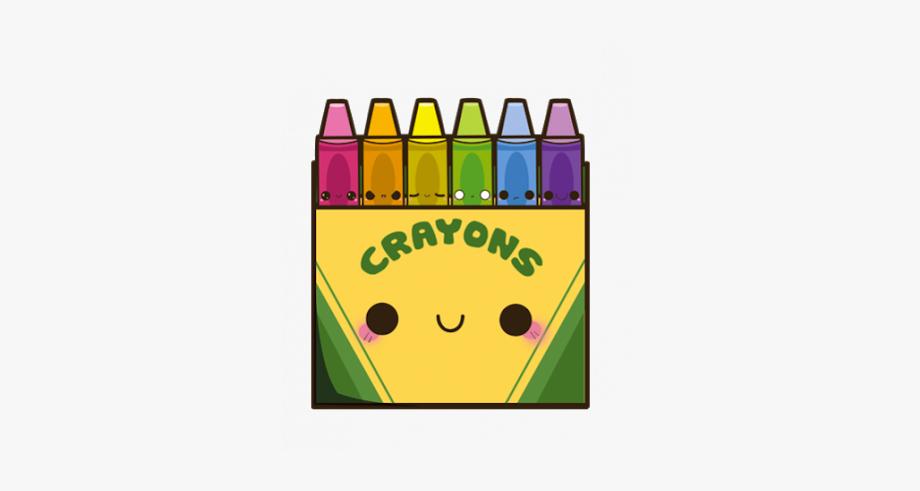 Sticker cliparts . Crayons clipart kawaii