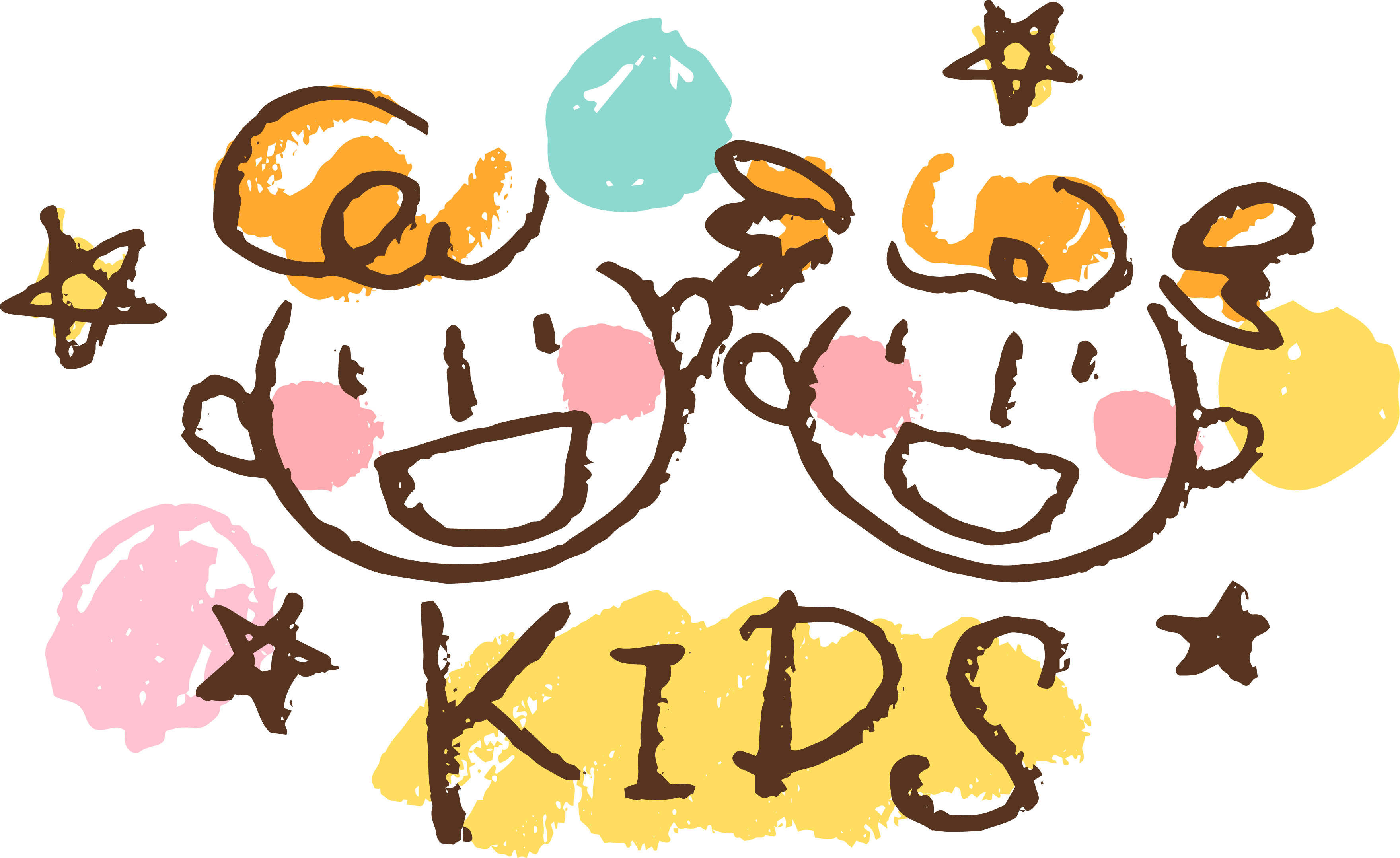 Logo child art drawing. Crayon clipart kid