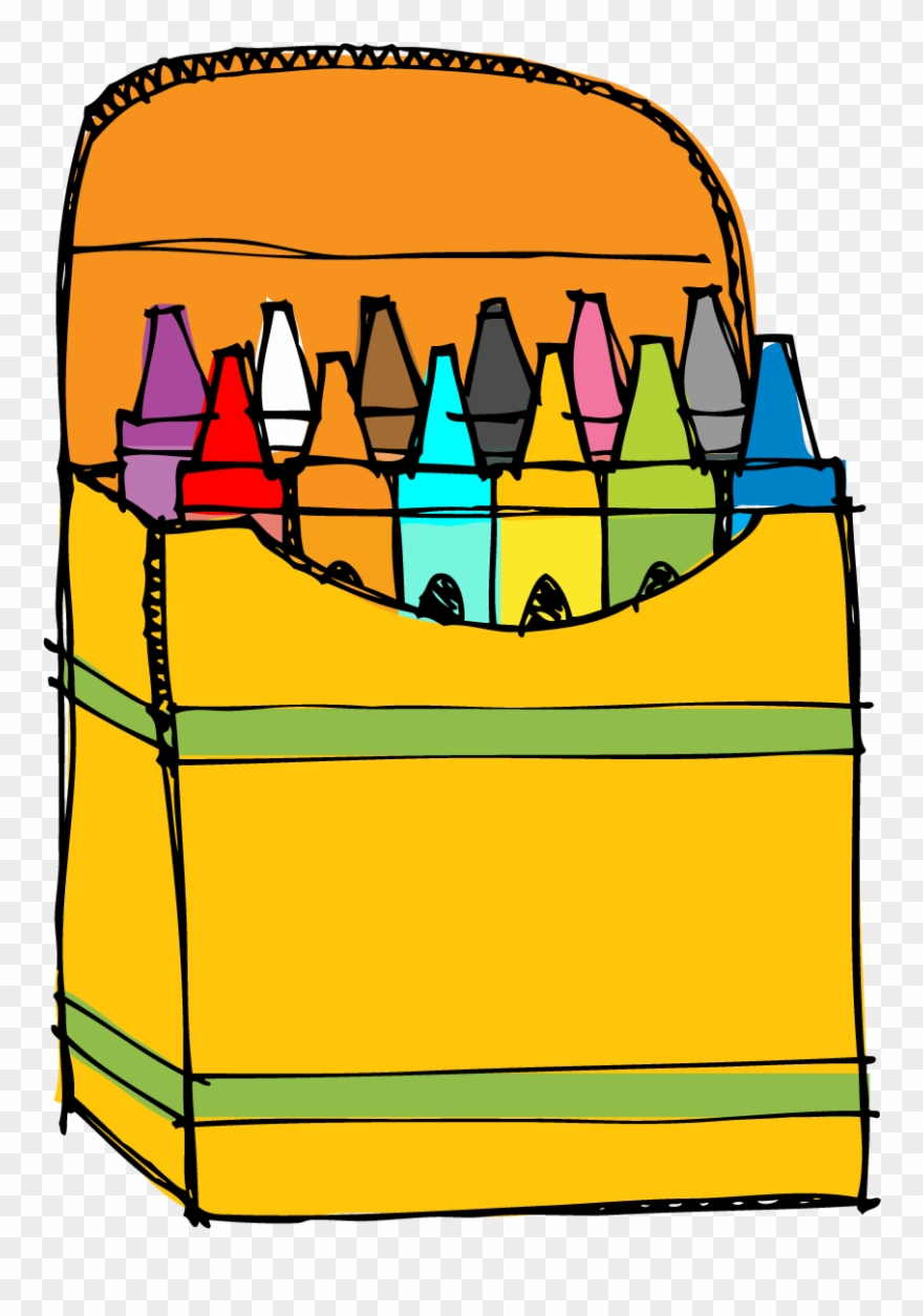 The very busy png. Crayons clipart kindergarten