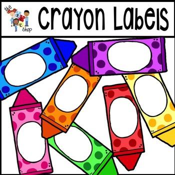 Label clipart crayon. Labels set