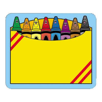 Box tags pkg panda. Crayon clipart name