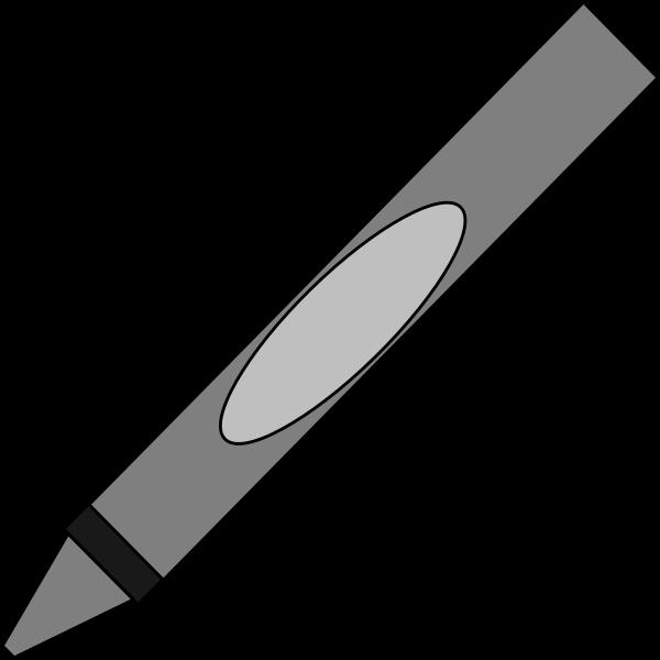Crayon clipart name. Gray clip art at
