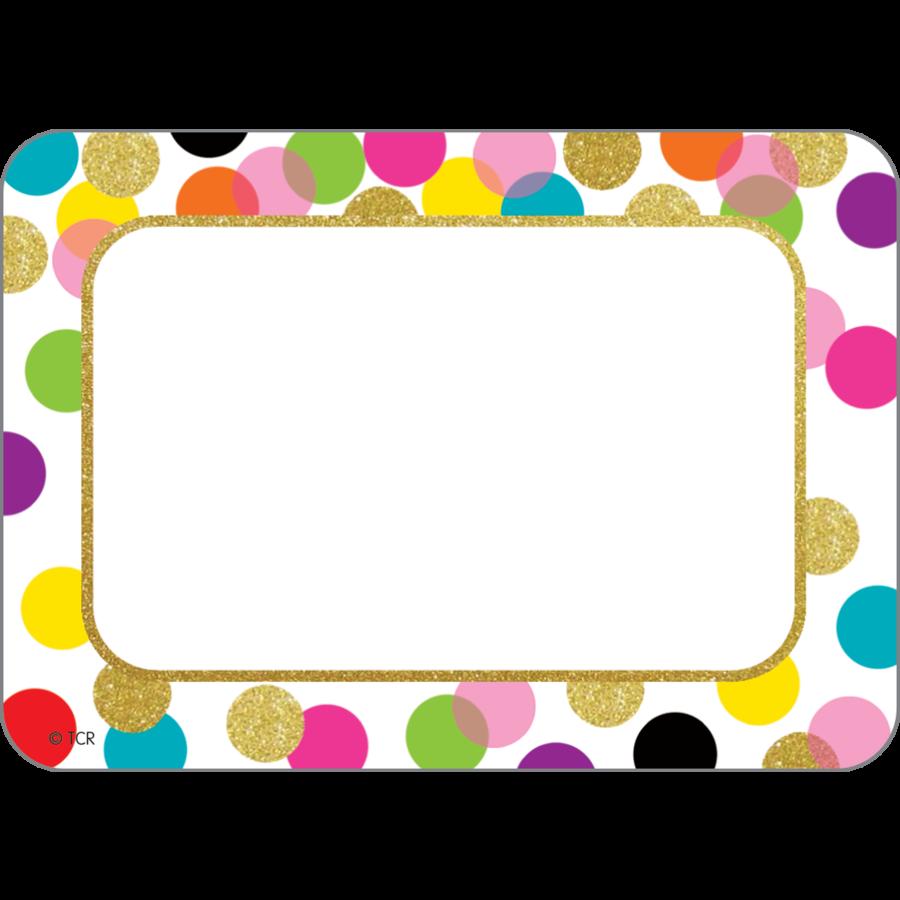 Crayon clipart name tag. Teachertoolsinc com confetti tags