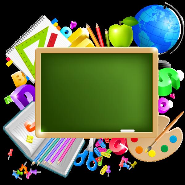 Elements de l escola. Crayon clipart name tag